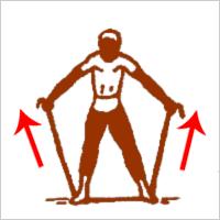 Упражнение со жгутом для дельтовидных мышц