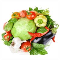 гора овощей