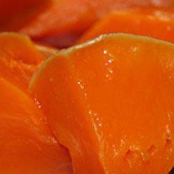 Фотография кусочков тушеной тыквы