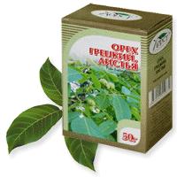Упаковка листьев грецкого ореха