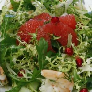 Грейпфрут салат с креветками