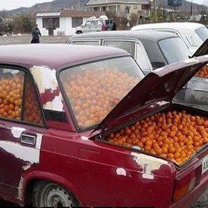 мандарины в жигулях