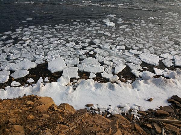 Льдинки воле берега